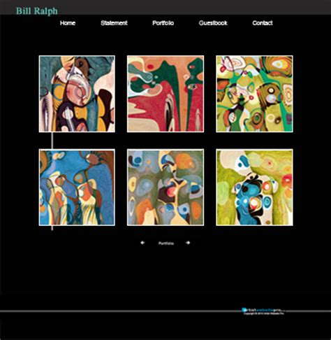 Artist Website Templates Website Templates For Artists Artist Web Template