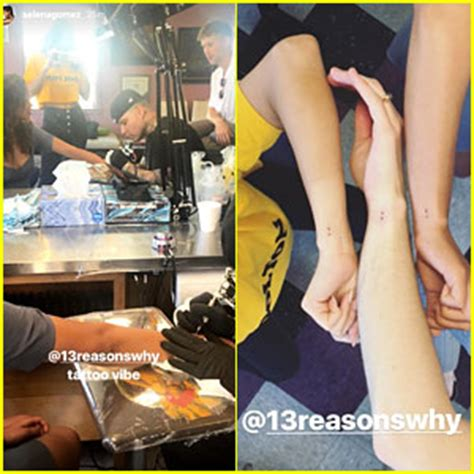 justin bieber selena gomez matching tattoos selena gomez 13 reasons why cast members get matching