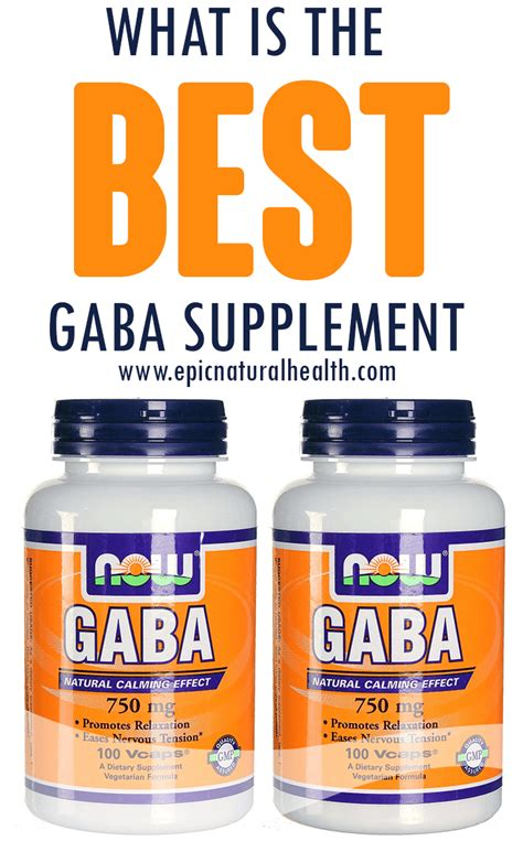 supplement gaba what is the best gaba supplement epic health