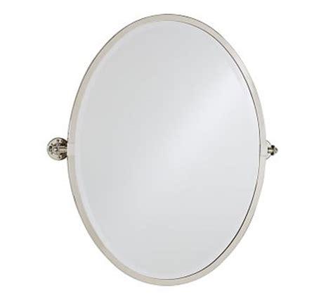Cermin Oval Harvest Mirror White kensington pivot oval mirror pottery barn