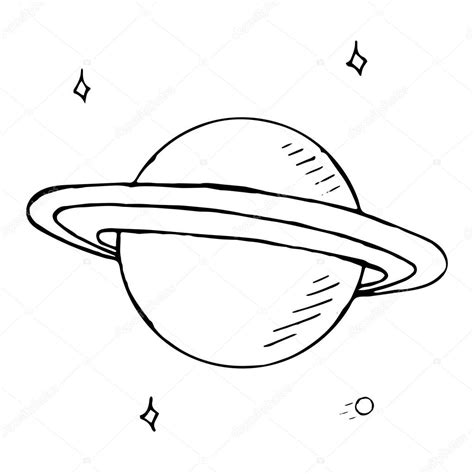 doodle planet doodle planet saturn with stock vector
