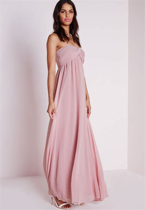 chiffon maxi dress strapless dresscab
