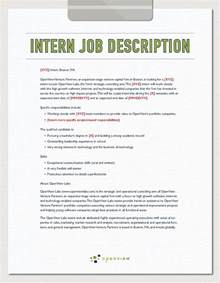 Intern Job Description Template and Hiring Plan   OpenView