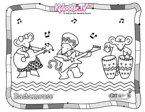 coloring pages rastamouse rastamouse free printable coloring sheet kidoodle tv