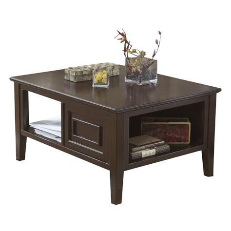 Ashley Larimer Rectangular Coffee Table With Storage In Rectangular Coffee Table With Storage