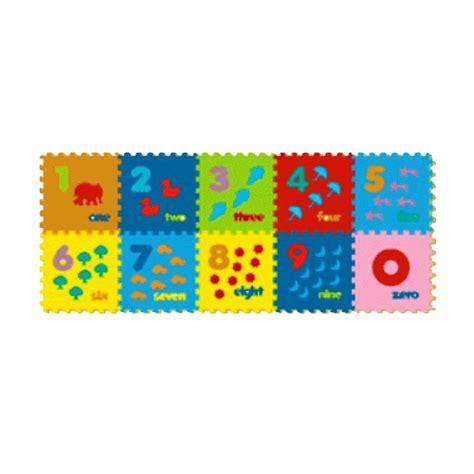 Puzzle Abjad Gambar jual evamats puzzle angka gambar mainan anak