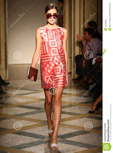 Fashion Week The Exhibition Part 3 Ready To Wear by A Model Walks Runway During The Chicca Lualdi Show As A