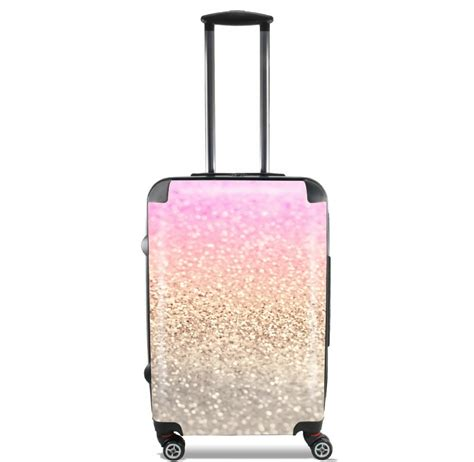 gatsby glitter pink for lightweight luggage bag