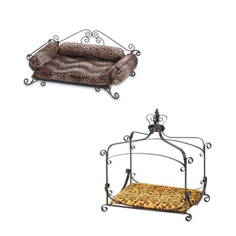 dog cat pet beds wood or metal frame comfy cushions fits