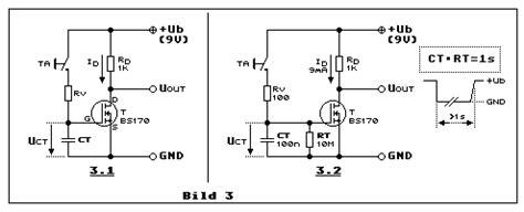 fet transistor grundschaltungen lowpower mosfet batterie abschaltverz 246 gerung bs170 bc560 bc517 darlington highsite power
