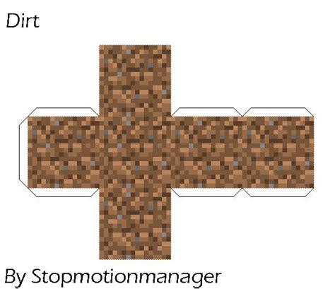 Papercraft Minecraft Blocks - papercraft minecraft blocks papercraft