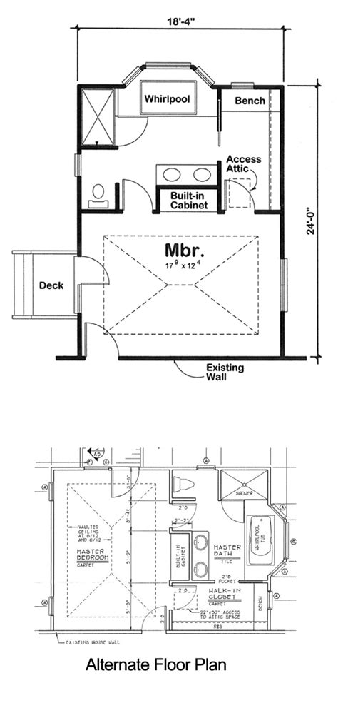 Bedroom Additions Floor Plans Project Plan 90027 Master Bedroom Addition For One And
