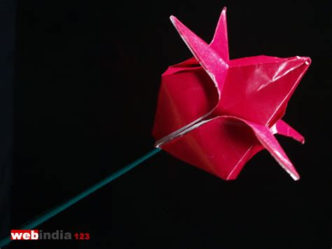 Paper Folding Lotus - origami lotus how to make origami lotus craft