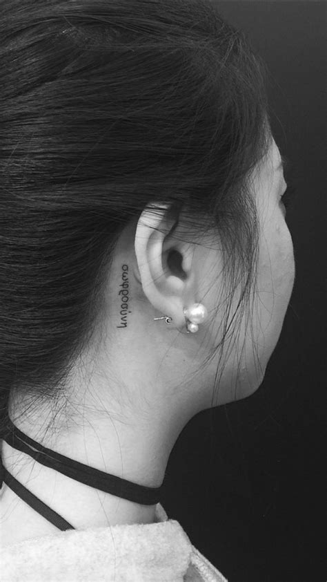 tattoo behind ear easy to hide 11 behind the ear tattoos that are too cute to hide
