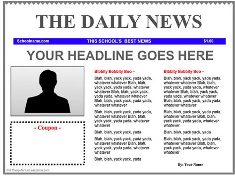 newspaper template 3 newspaper templates for teachers educational