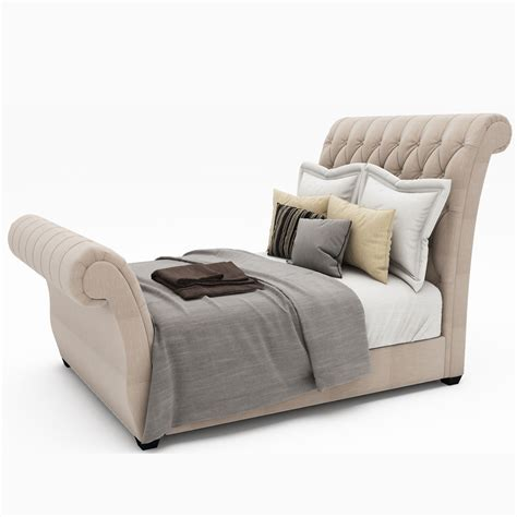 Tufted Sleigh Bed King Waverly Taupe King Upholstered Sleigh Bed With Button Tufted Headboard By Doannguyen