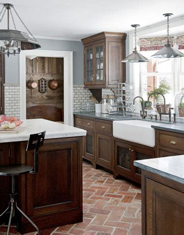 Brick Kitchen Floor Color Outside The Lines Kitchen Inspiration Month Day One Brick Floors