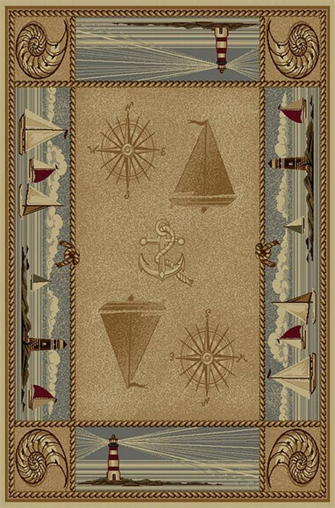 wilderness rug wilderness 763 sailboat nautical design area rug lodge collection blanket warehouse