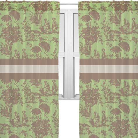 Toile Curtains Green Green Brown Toile Sheer Curtains 60 Quot X84 Quot Personalized Youcustomizeit