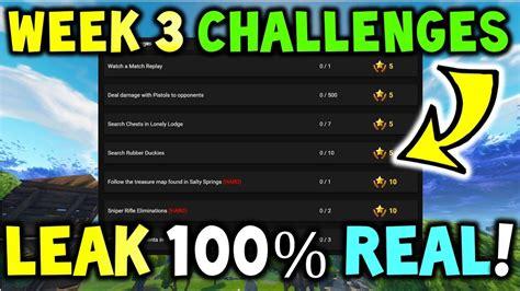 fortnite week 3 challenges fortnite week 3 challenges confirmed season 4 week 3