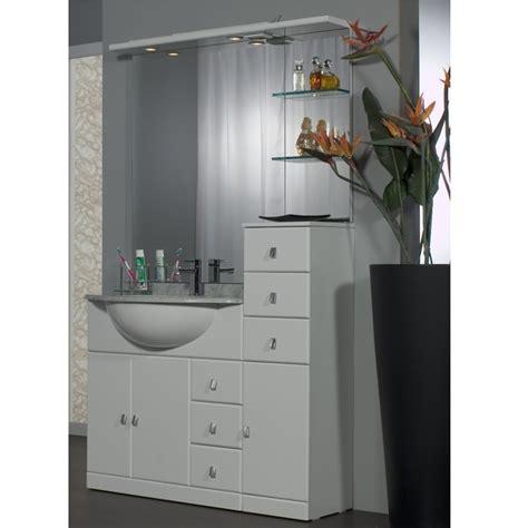 mobile bianco bagno mobile bagno cleo 80 bianco completo con lavabo in ceramica bh
