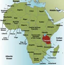 Tanzania Africa Map by Map Of Africa Tanzania Deboomfotografie