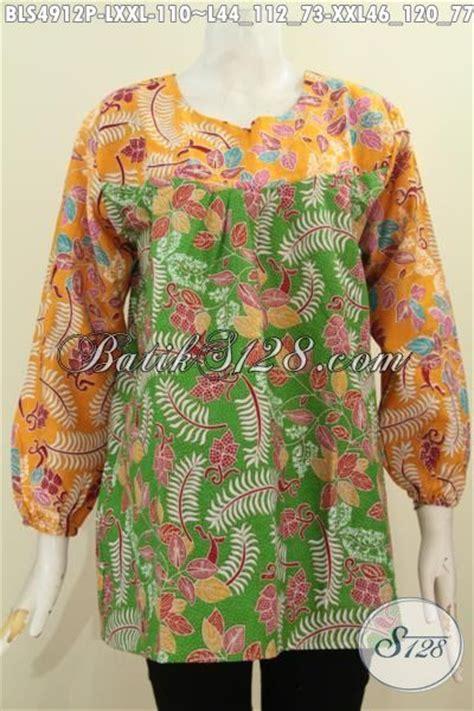 Baju Warna Hijau Kombinasi pakaian batik dua warna hijau kombinasi kuning baju batik lengan panjang pakai karet ujung