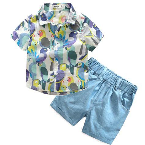 Tshirt Summer Bigsize Ld 100 Cm 2017 baby boys birds clothes shirt and shorts children summer clothing sets for 100 140cm