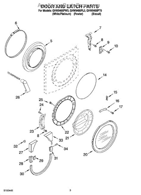 whirlpool duet front load washer parts diagram whirlpool wp8182080 front load washer door handle