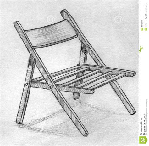 Pencil Sketches Of Chairs Sketch by Pencil Sketch Of A Folding Chair Stock