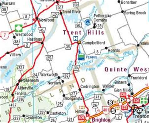 printable road maps ontario community maps trent hills
