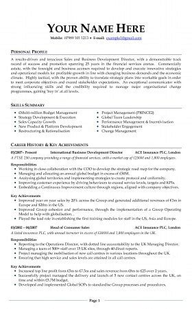 professional cv template uk cv exles free