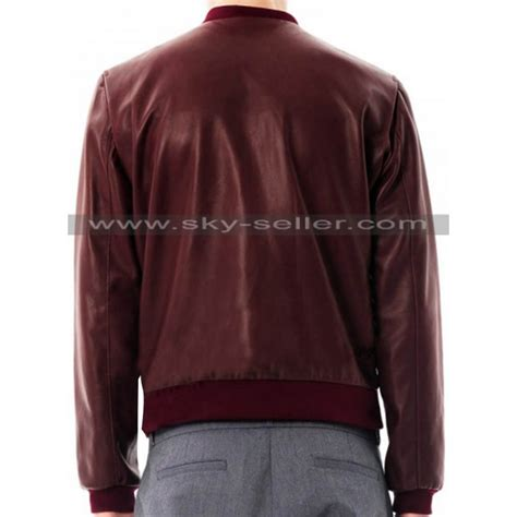 Bomber Jaket Maroon slim fit bomber s maroon leather jacket