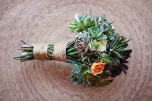 succulent bouquet bouquet bridal green succulents and orange flowers wedding bouquets