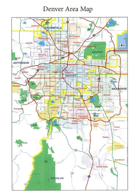 area map metro denver area map