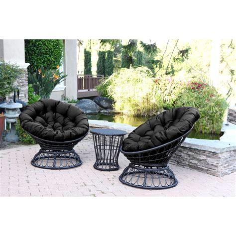 papasan swivel chair papasan espresso wicker swivel chair and table set with