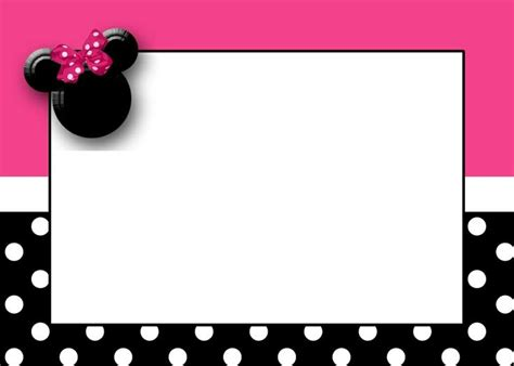 minnie mouse card templates minnie mouse birthday clip 88