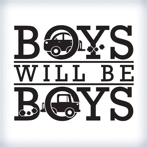 Boys Wall Art Stickers boys will be boys wall sticker by wall art