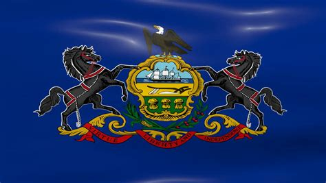 of pennsylvania colors pennsylvania state flag stock footage