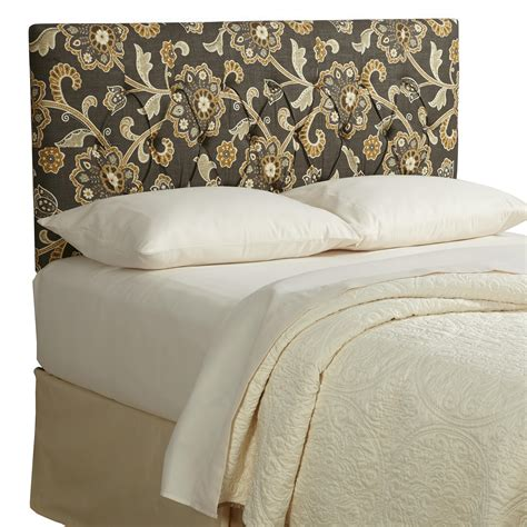 floral headboard com humble haute harlow floral diamond tufted