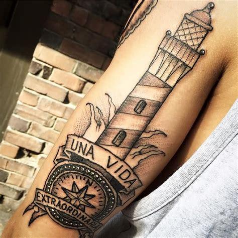 compass lighthouse tattoo 6 full sleeve lighthouse tattoos