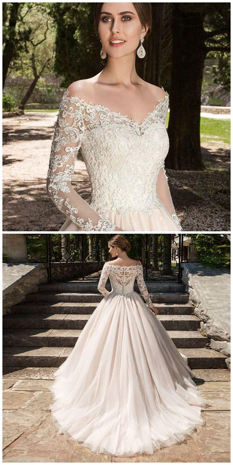 sexy v neck wedding dresses long sleeves wedding dress