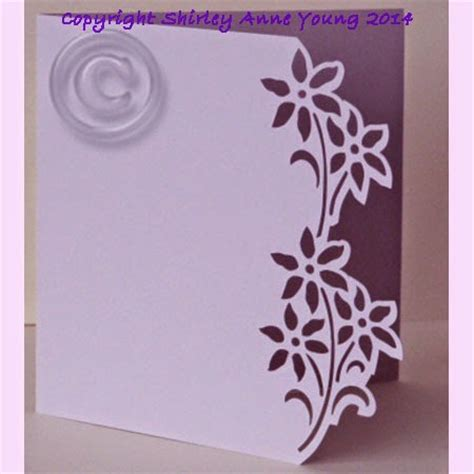 free silhouette cameo christmas cards cut file shirley s cards flower card free cut file silhouette