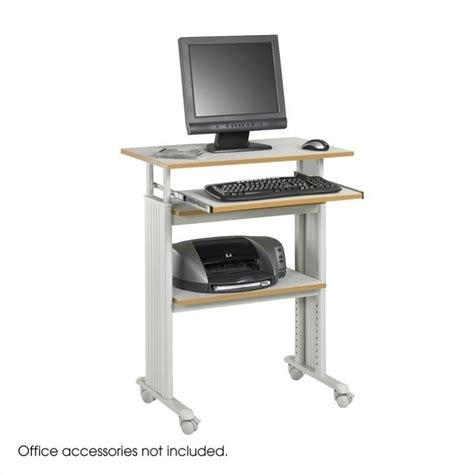 Features Adjustable Height Computer Desk Workstation