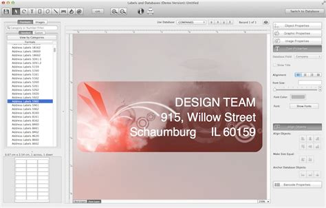 label layout software labels and databases labels and databases advanced mac