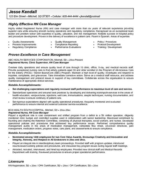 Resume Templates For Nursing Management Manager Resume Sle
