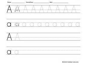tracing and writing letter a worksheet