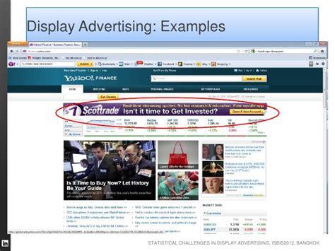 Display Advertising statistical challenges in display advertising