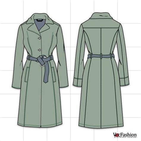 coat template s coat vector template flat tec