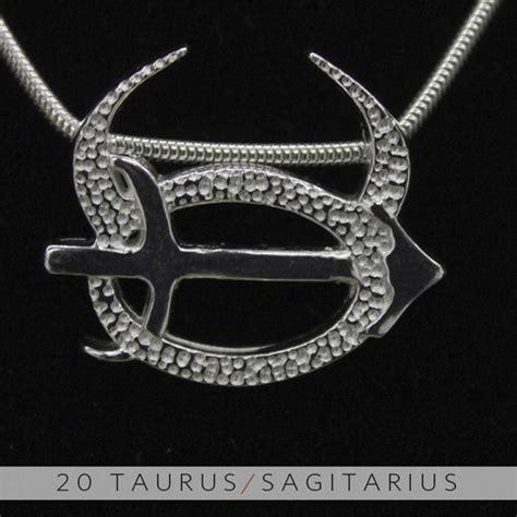 the taurus and sagittarius silver unity pendant on storenvy